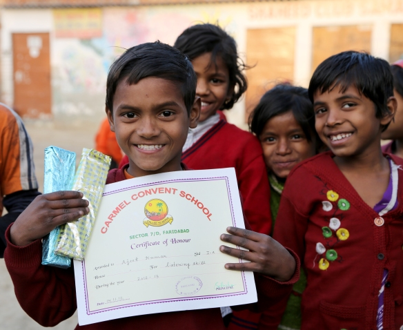 Ajeet with Prizes and Certificate
