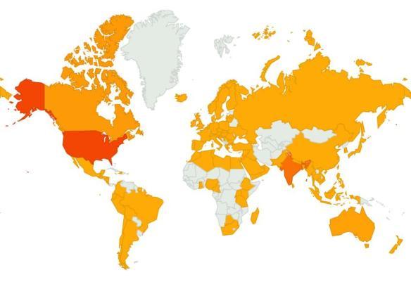 January 2013 Blog Map