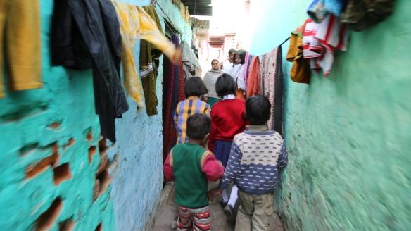 Walking Through the Slum