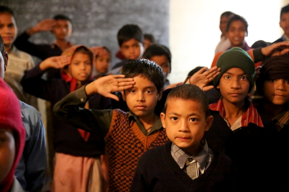_Salutes at Government School