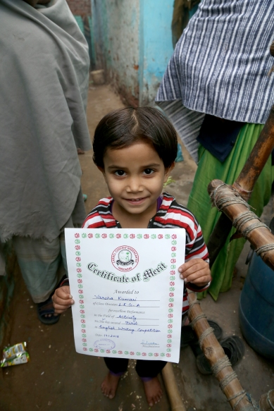 _Versha with Writing Competition Certificate Prize